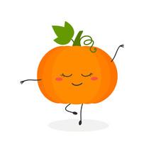 Funny Cartoon Pumpkin Ballerina