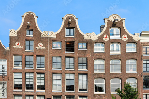 Photo  Beautiful view of the canal houses at the Prinsengracht canal in Amsterdam, the