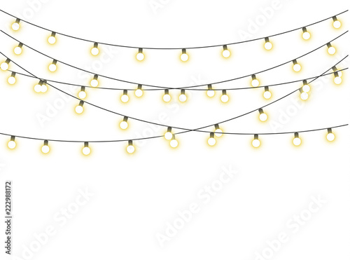 Carta da parati  Christmas lights isolated
