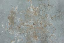 Texture Of Old Peeling Blue Plaster