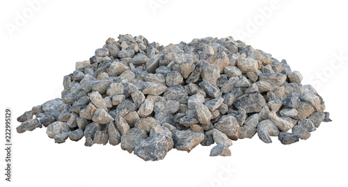 Limestone isolated on white background. Wallpaper Mural