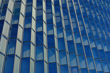 Detail Of The Facade Of A Blue...