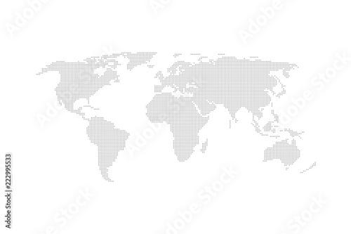 Grey dotted world map vector flat design. – kaufen Sie diese ...