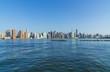 Manhattan Midtown skyline panorama in a sunny day. New York