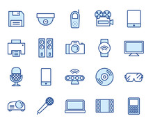 Multimedia Vector Illustration Icon Set