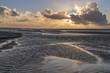 Crépuscule en Baie de Somme à marée basse