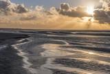 Fototapeta See - Crépuscule en Baie de Somme à marée basse