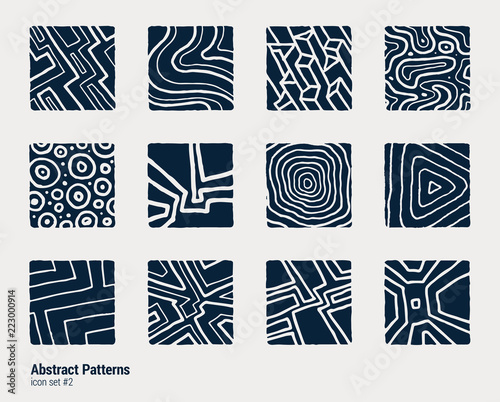 Cuadros en Lienzo Collection of hand-drawn abstract scientific textures