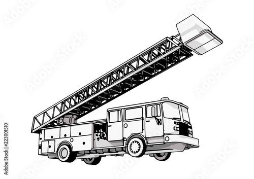 Fotografiet fire engine vector