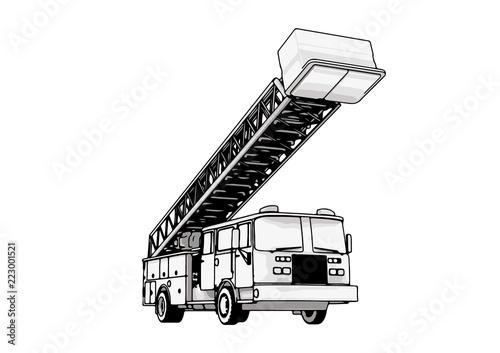 Cuadros en Lienzo fire engine vector