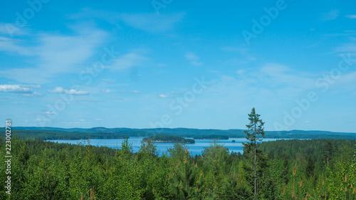 beautiful view at lake päijänne in finland