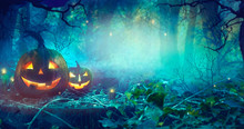 Halloween Theme With Pumpkins ...