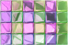 Tile Design Colorful Element, Photo Realistic Rendering (16 Bit Color), 3D Illustration