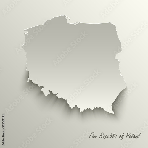 Fotografía  Abstract design map The Republic of Poland template