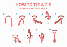 How To Tie A Half-windsor Knot Tie Instruction.