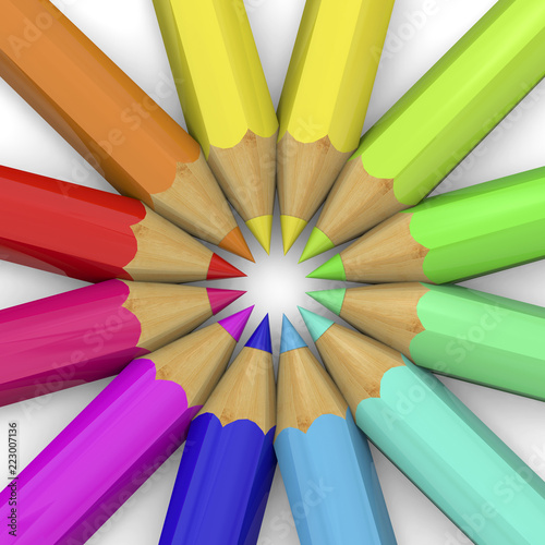 Fotografia, Obraz  Colorful Pencil - 3D