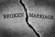 Broken Marriage Divorce Couple Torn Apart Destroyed Relationship