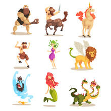 Ancient Mythical Creatures Set...