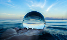 Ocean Surface Ripples And Clou...