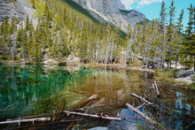 The Grassi Lakes, Canmore, Trail, Alberta, Canada