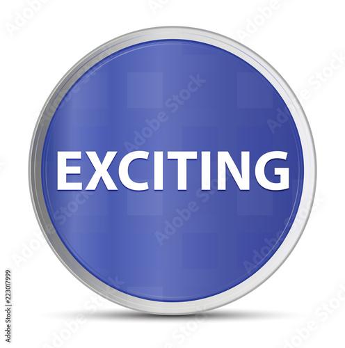 Fotografie, Obraz  Exciting blue round button