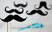 A Lot Of Black Paper Moustache...