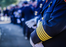Scenes From A Firefighter's Funeral