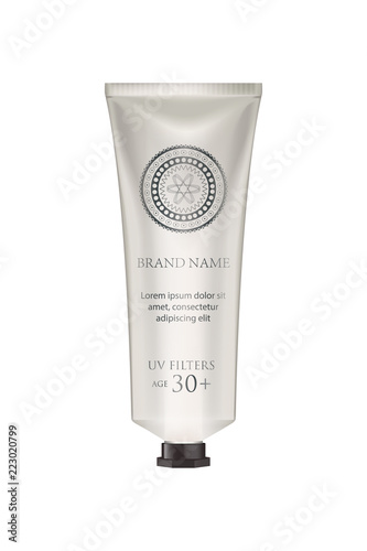 Leinwand Poster Cosmetic luxury packaging, plastic tube