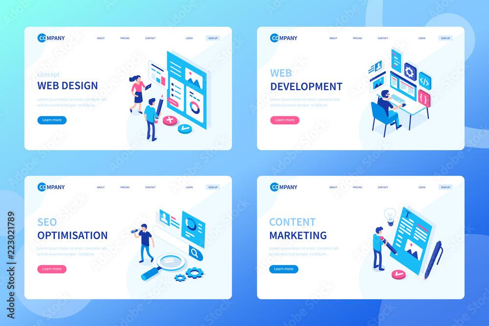 Fototapeta web development