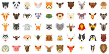 Animals Icon Set. Flat Set Of ...