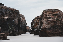 Big Rocks On White Ground