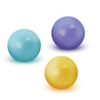 Colourful realistic pearls illustration. Perfect for cupcakes, desserts, cookies and ice cream web design ap or print.
