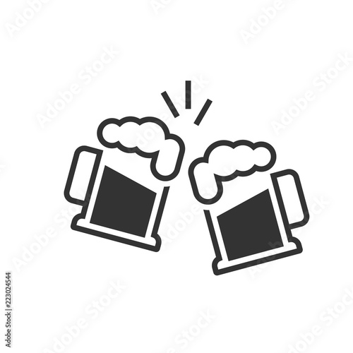 Photographie Toasting beer glasses icon