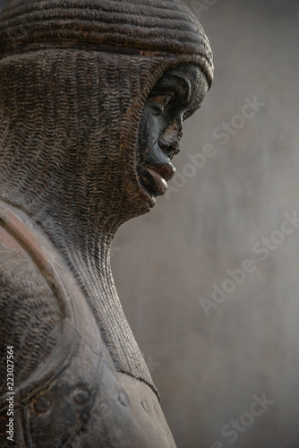 Statue of Saint Maurice in Magdeburg Cathedral as Roman soldier from Thebes in 1 Canvas Print