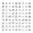 Simple collection of money related line icons.
