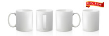 Template Ceramic Clean White Mug With A Matte Effect, Without The Bright Glare.