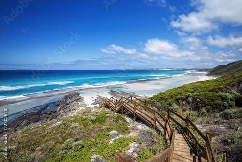 Foto op Aluminium Oceanië Western Australia – rough costline with stairway to the beach
