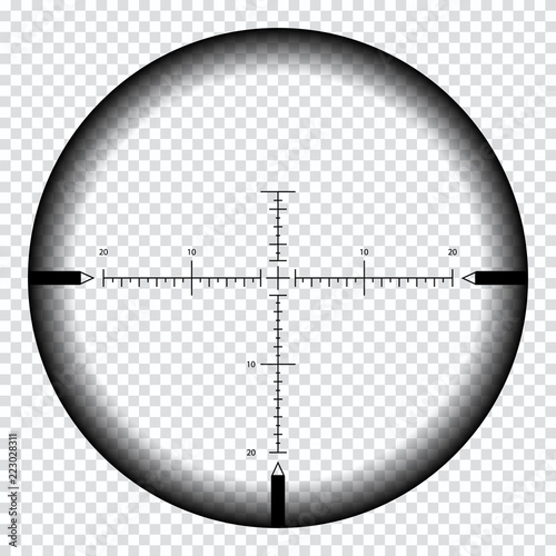 Cuadros en Lienzo Realistic sniper sight with measurement marks