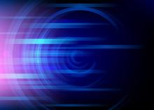 Abstract Round Blue Background. Minimal Fluid Design, Vector Illustration.
