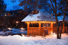 Beautiful Gazebo Decorated Wit...