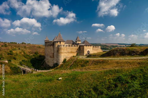 Stampa su Tela Khotyn fortress on a sunny day. Ukraine.