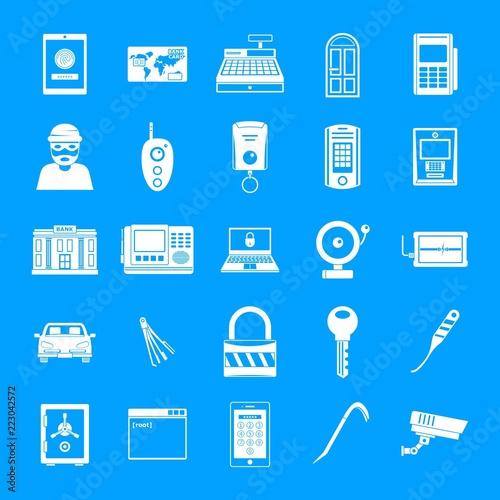 Fotografia Burglar robber mugger plunderer icons set