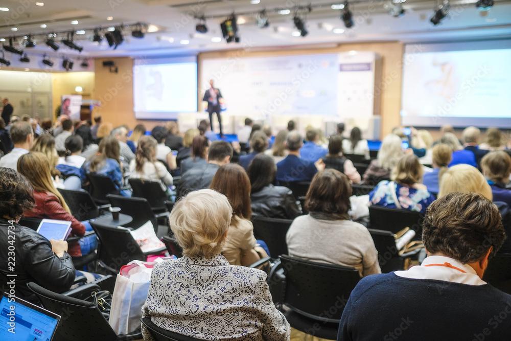 Fototapeta People on a conference
