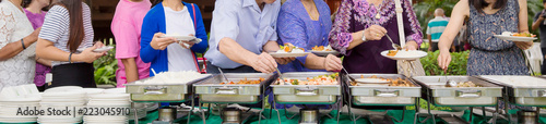 Fotografie, Obraz  Food Buffet Catering Dining Eating Party Sharing Concept