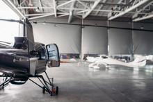 Private Airline Air Park In Airport Hangar