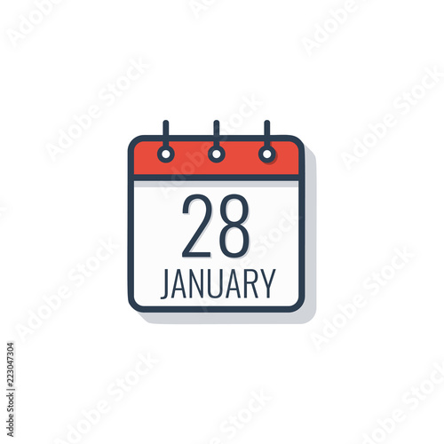 Fotografia  Calendar day icon isolated on white background