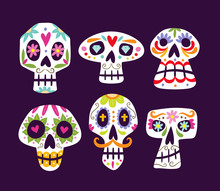 Colorful Mexican Skull Collect...