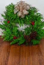 A Decorated Wreath For Christmas
