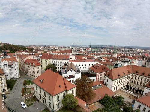 фотография  View to the houses and roofs of Brno city. Czech Republic