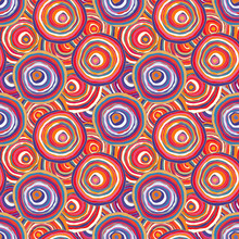 Circles Contour Multicolored